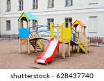 children's playground in the... | Shutterstock . vector #628437740