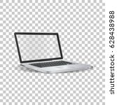 laptop  on transparent... | Shutterstock .eps vector #628438988