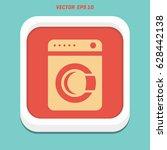 washing machine icon. home... | Shutterstock .eps vector #628442138