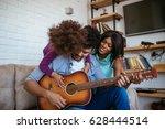 shot of happy african american... | Shutterstock . vector #628444514