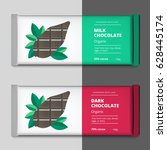 organic dark and milk chocolate ... | Shutterstock .eps vector #628445174