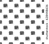 shop pattern seamless in simple ... | Shutterstock .eps vector #628448636