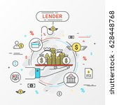 lender info graphics design... | Shutterstock .eps vector #628448768