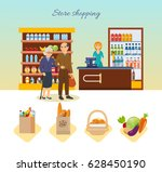 store shopping concept. shop ... | Shutterstock .eps vector #628450190