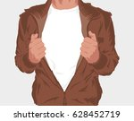 man with white t shirt to put...   Shutterstock .eps vector #628452719