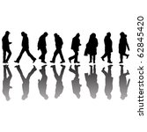people black silhouettes ... | Shutterstock . vector #62845420