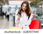 woman in white suit doing... | Shutterstock . vector #628457444