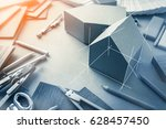 design concept with material... | Shutterstock . vector #628457450