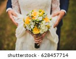 beautiful wedding bouquet of... | Shutterstock . vector #628457714