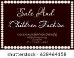 font script typeface sale | Shutterstock .eps vector #628464158
