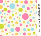seamless vector pattern with... | Shutterstock .eps vector #628464398