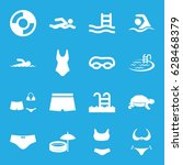 swim icons set. set of 16 swim... | Shutterstock .eps vector #628468379