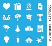 celebration icons set. set of... | Shutterstock .eps vector #628470020