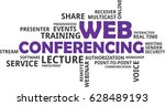 a word cloud of web...   Shutterstock .eps vector #628489193