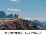 backpackers achieve their aim ... | Shutterstock . vector #628490174