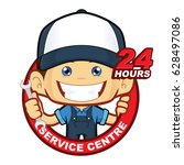 mechanic 24 hours service centre | Shutterstock .eps vector #628497086