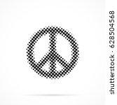peace symbol in halftone.... | Shutterstock .eps vector #628504568