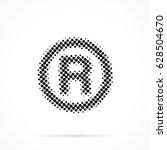 r   registered trademark symbol ... | Shutterstock .eps vector #628504670
