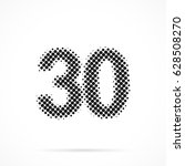 number thirty  30 in halftone.... | Shutterstock .eps vector #628508270