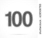 number one hundred  100 in... | Shutterstock .eps vector #628508783
