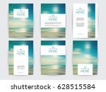 set of brochures layout with... | Shutterstock .eps vector #628515584