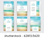 set of brochures layout with... | Shutterstock .eps vector #628515620