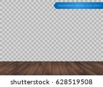 vector wood table top or wooden ... | Shutterstock .eps vector #628519508