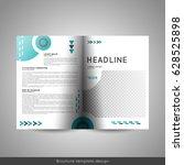 bi fold business or educational ... | Shutterstock .eps vector #628525898