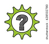 gear machine with question... | Shutterstock .eps vector #628532780