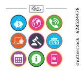 online shopping  e commerce and ... | Shutterstock .eps vector #628534478