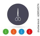 scissors hairdresser closed... | Shutterstock .eps vector #628534574