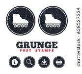 grunge post stamps. roller... | Shutterstock .eps vector #628537334