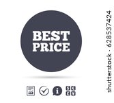 best price sign icon. special... | Shutterstock .eps vector #628537424