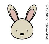 cute rabbit woodland animal | Shutterstock .eps vector #628537574