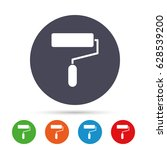paint roller sign icon.... | Shutterstock .eps vector #628539200