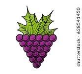 grapes fresh fruit icon | Shutterstock .eps vector #628541450