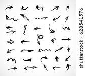 hand drawn arrows  vector set | Shutterstock .eps vector #628541576