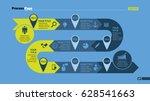 timeline arrow slide template   Shutterstock .eps vector #628541663
