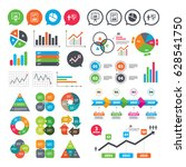 business charts. growth graph.... | Shutterstock .eps vector #628541750