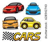set of cars. | Shutterstock .eps vector #628542743