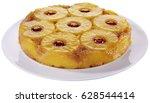pineapple upside down cake...   Shutterstock . vector #628544414