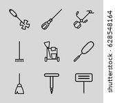 Broom Icons Set. Set Of 9 Broo...