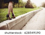 woman legs and high heels | Shutterstock . vector #628549190