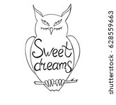 sweet dreams. hand written... | Shutterstock .eps vector #628559663