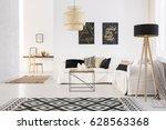 white cozy modern designed...   Shutterstock . vector #628563368