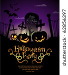 halloween invitation or... | Shutterstock .eps vector #62856397