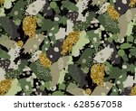 camouflage seamless pattern in... | Shutterstock .eps vector #628567058