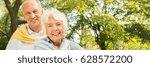 smiling elderly couple spending ...   Shutterstock . vector #628572200