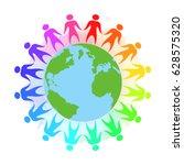 illustration of rainbow people...