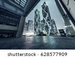 interior of modern architecture ... | Shutterstock . vector #628577909